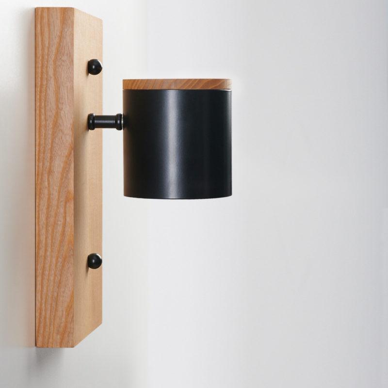 Светильник современный Бра лофт на стену белый Wooden Light black